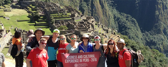Students on a trip to peru